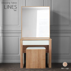 โต๊ะแป้ง รุ่น LINE สีไลท์