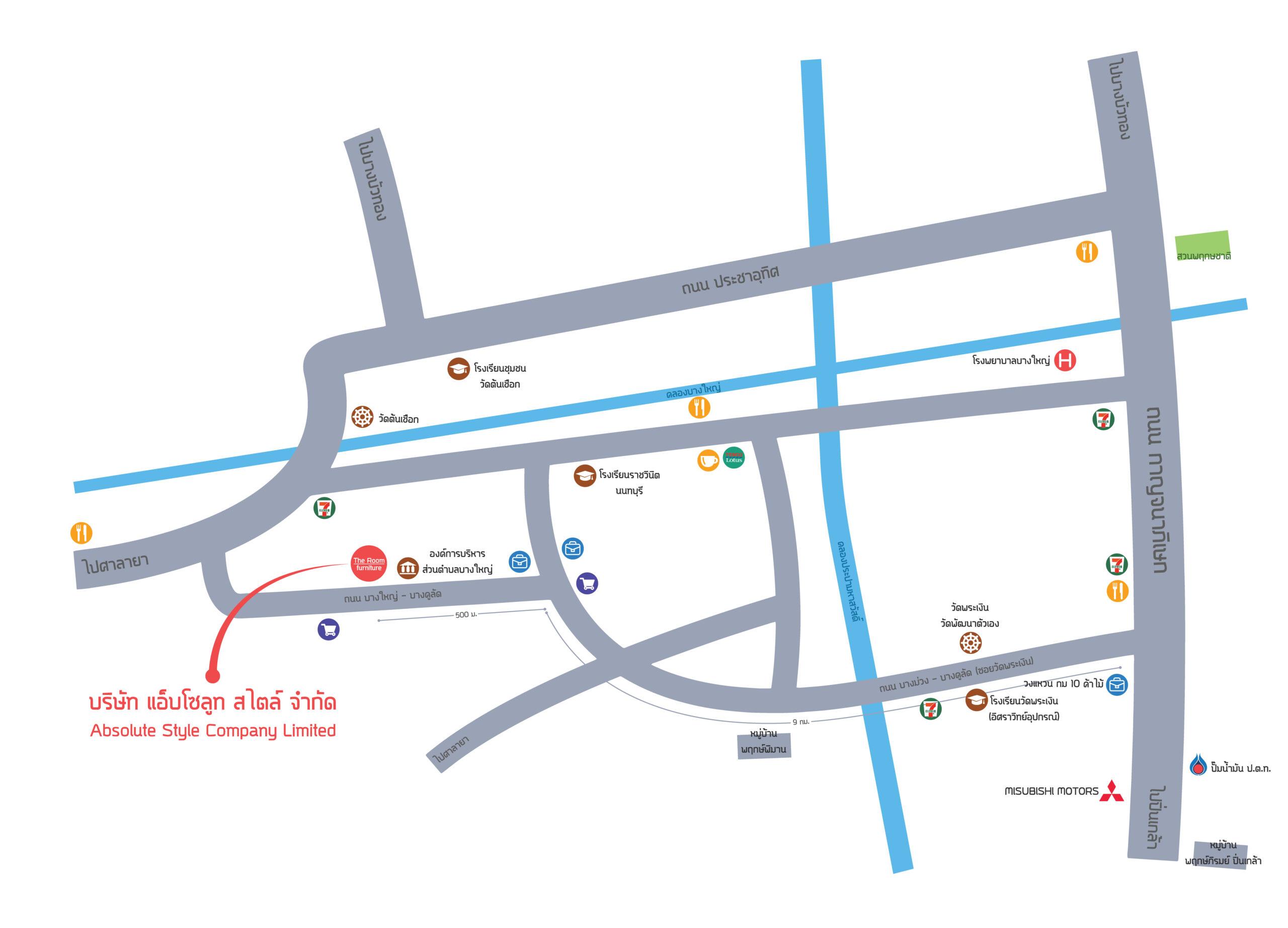 map แผนที่ บริษัท Absolute style