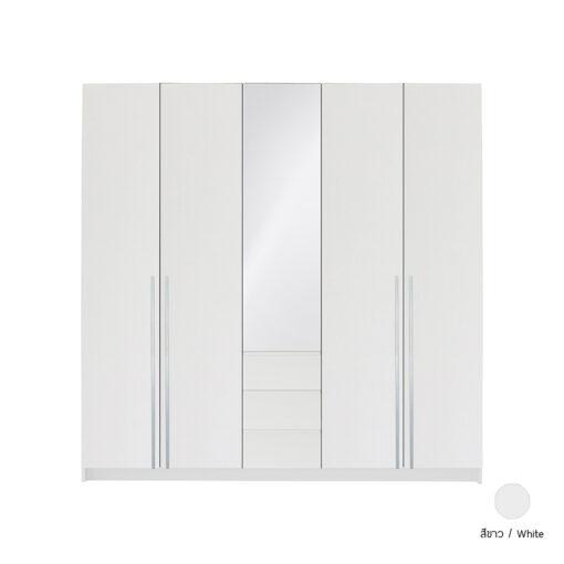 ตู้เสื้อผ้า รุ่น THEME สีขาว
