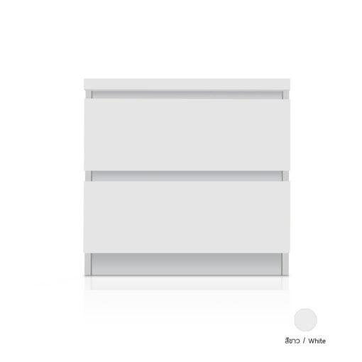 ตู้ข้างเตียง FLOWER สีขาว